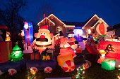 Extreme suburban outdoor christmas decoration