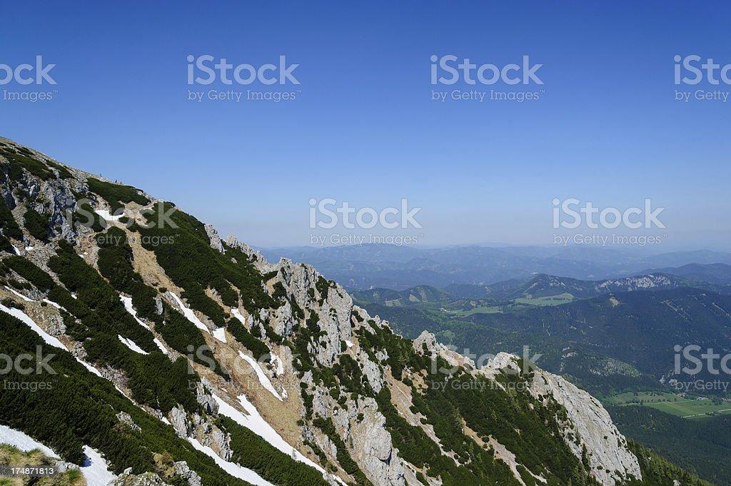 Extreme Terrain on Mountain stock photo