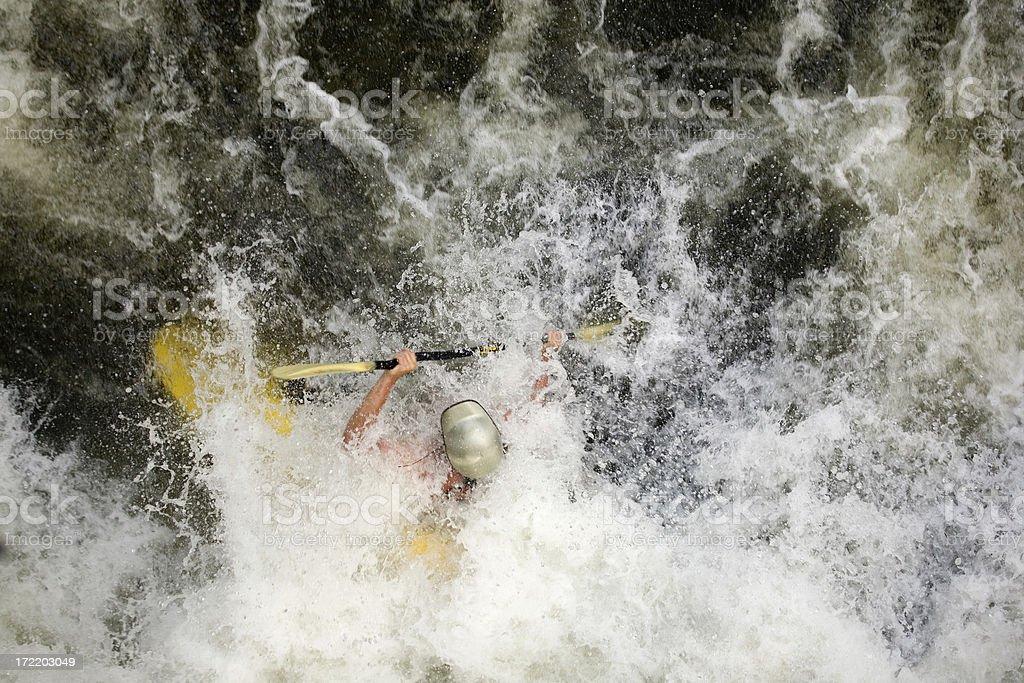 Extreme whitewater kayaking royalty-free stock photo