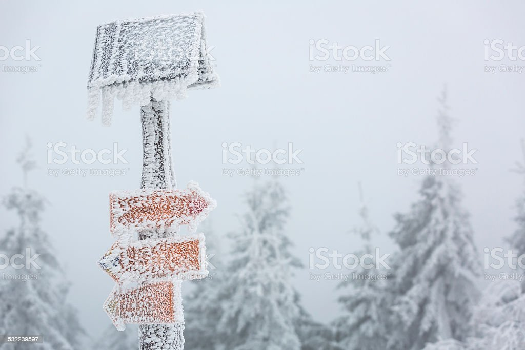 Extreme winter weather stock photo