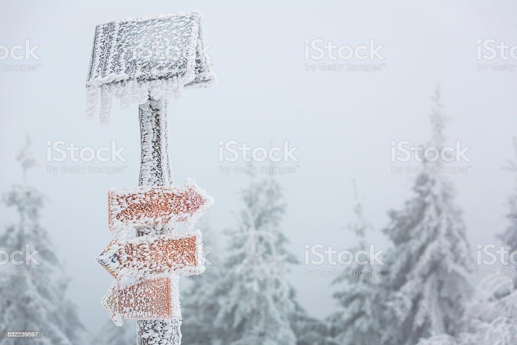 Extreme winter weather stock photo