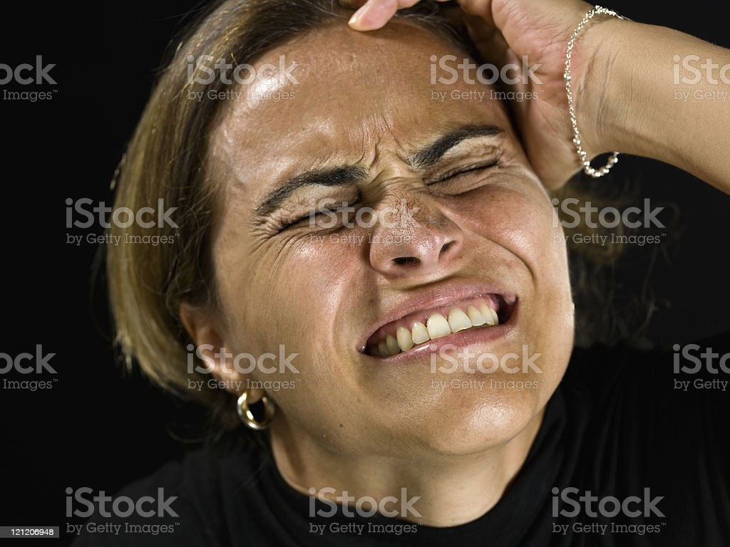 Extremelly stressed royalty-free stock photo