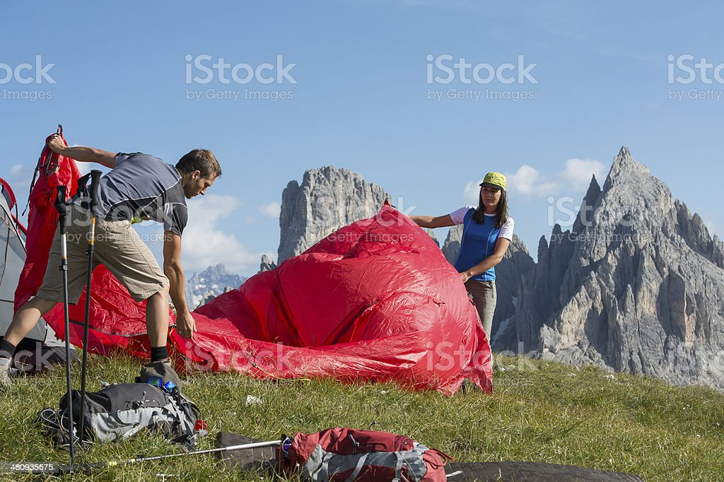 extremely camping stock photo