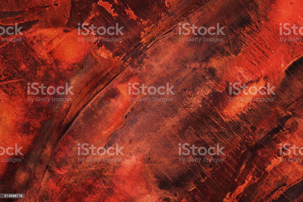 Extremely distressed dark metal surface stock photo