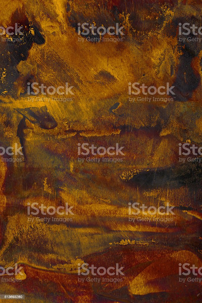 Extremely distressed metal surface stock photo