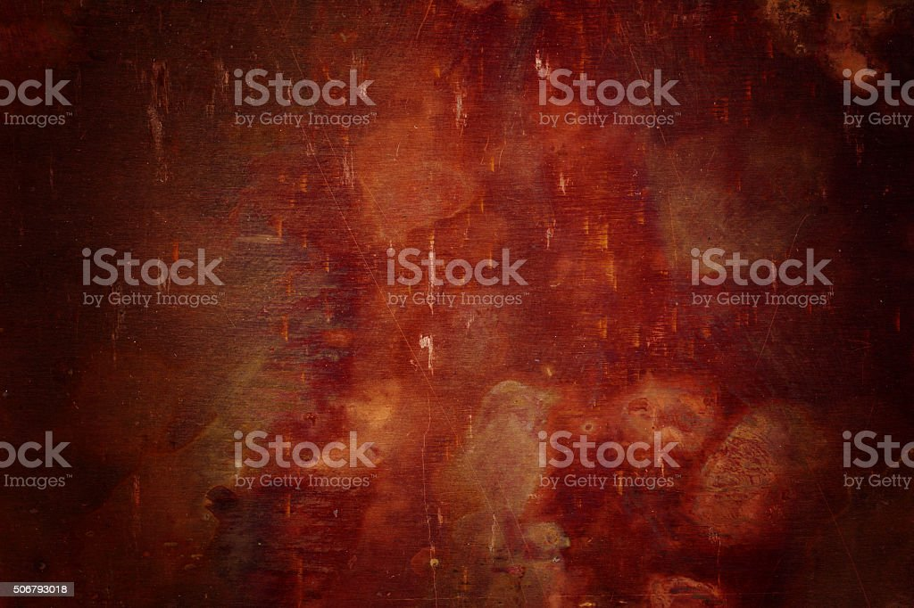 Extremely distressed metal surface with vignette stock photo
