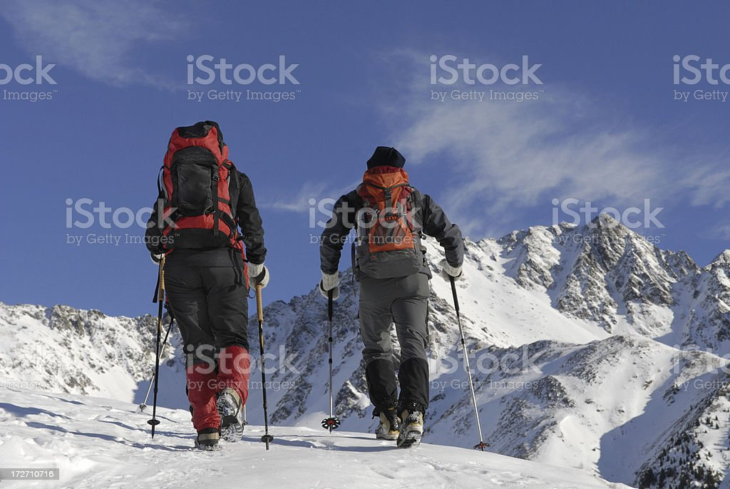 extremely mountain-climbing royalty-free stock photo