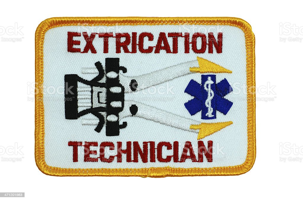 Extrication Technician Patch 2 royalty-free stock photo