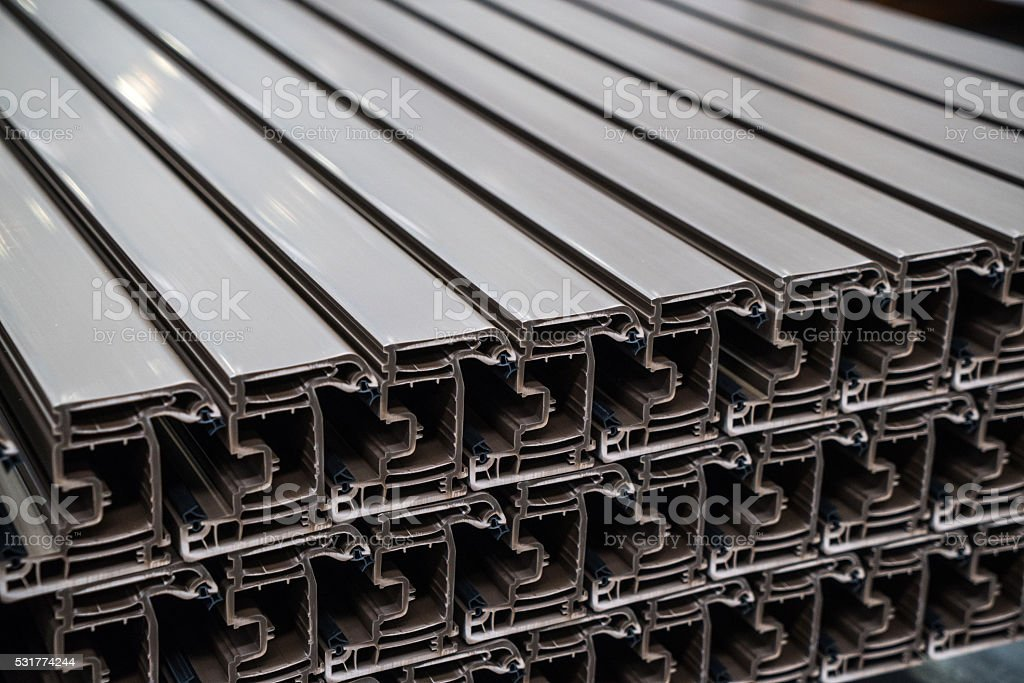 Extruded Metal Profiles stock photo