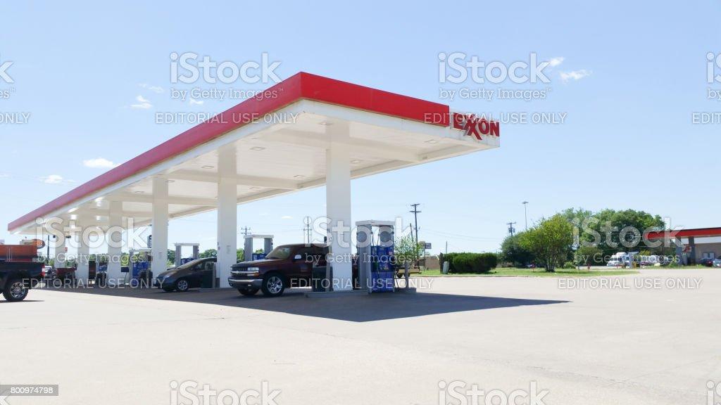 Exxon Gas Station stock photo