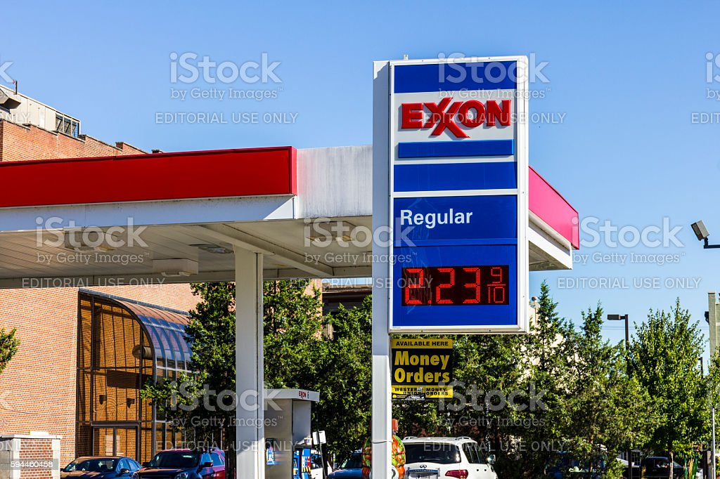 Exxon Retail Gas Location I stock photo