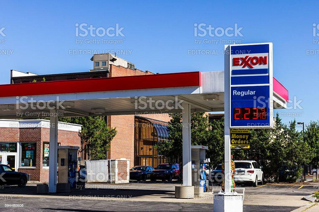 Exxon Retail Gas Location II stock photo