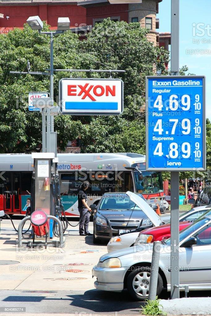 ExxonMobil gas station stock photo