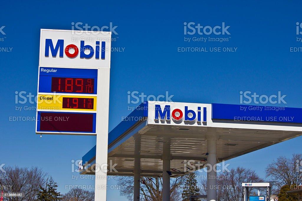 Indianapolis - March 2016: ExxonMobil Retail Gas Location II stock photo
