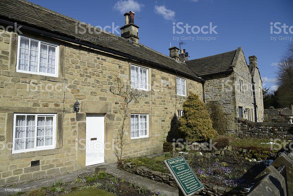 Eyam. Plague village. Derbyshire. stock photo