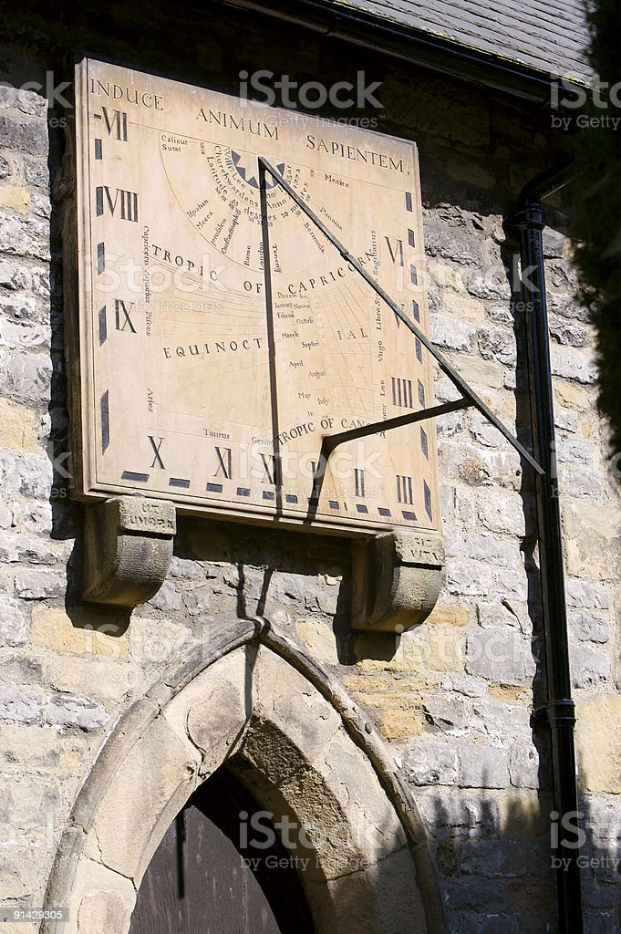 Eyam Sundial royalty-free stock photo