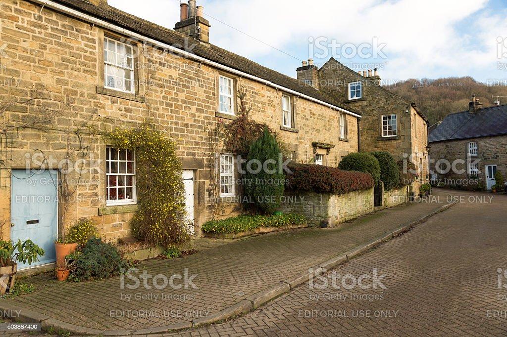 Eyam village in Derbyshire, UK stock photo
