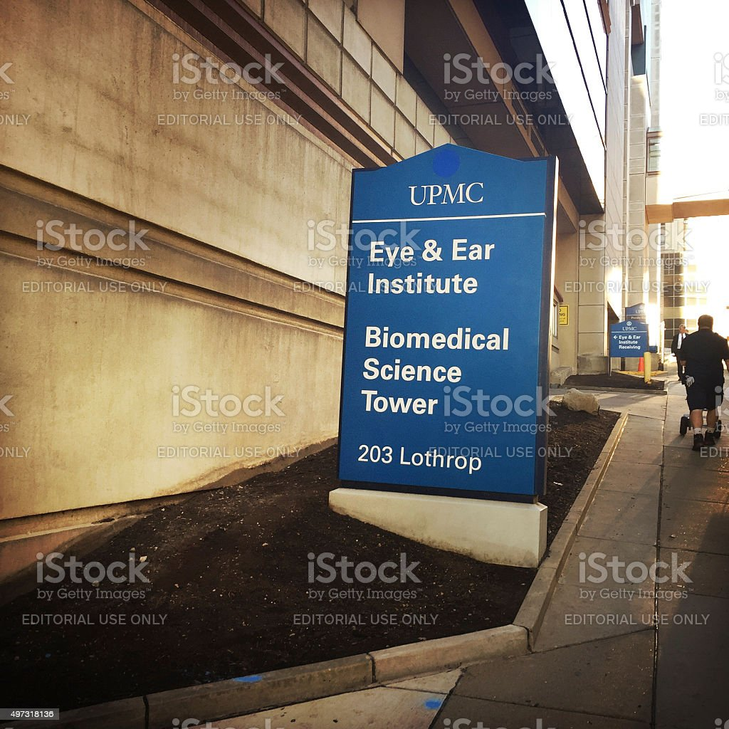 Eye and Ear Institute in Pittsburgh stock photo