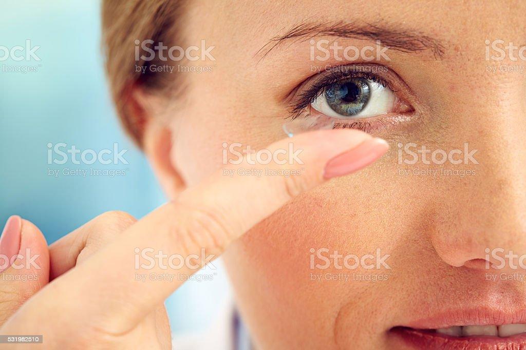 Eye care stock photo