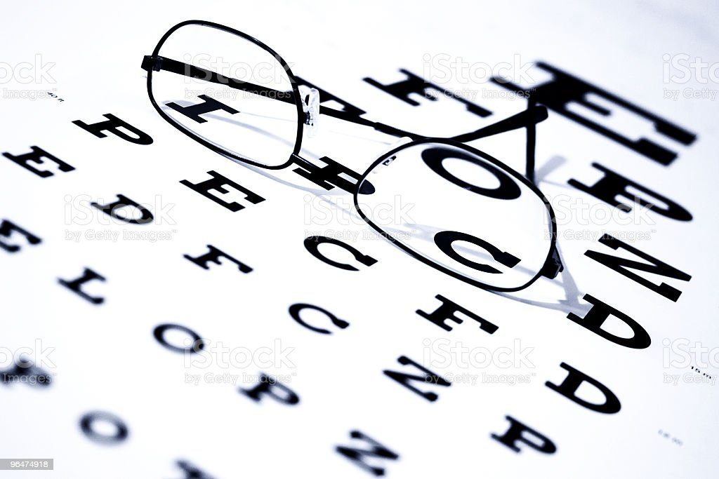Eye Chart and Glasses royalty-free stock photo