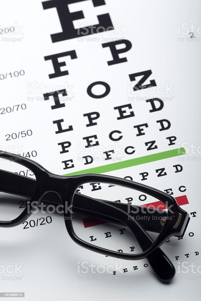 Eye Chart And Reading Glasses Stock Photo 452966915 Istock
