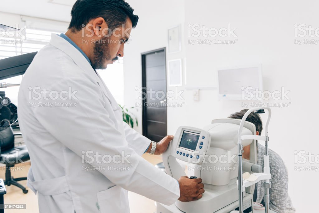 Eye Check up stock photo