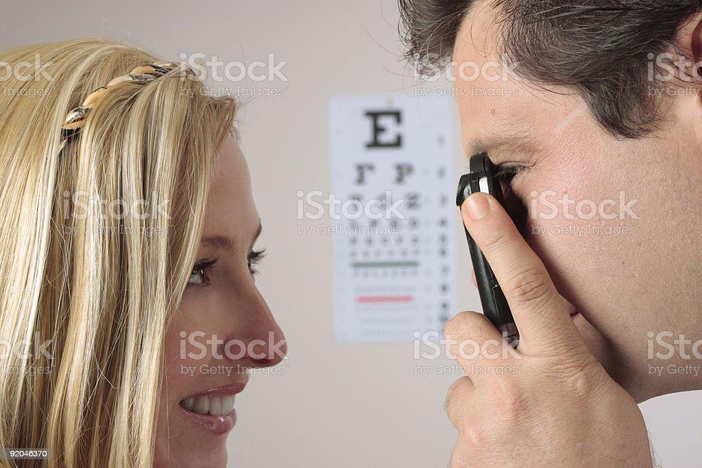 Eye Checkup stock photo