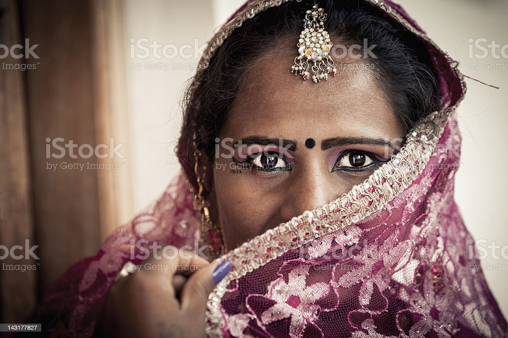 Eye Contact, Indian Woman Real People Portrait royalty-free stock photo