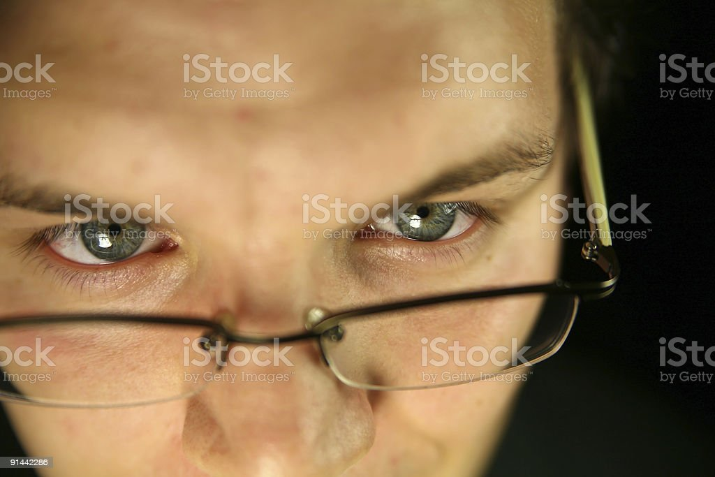 Eye contact stock photo