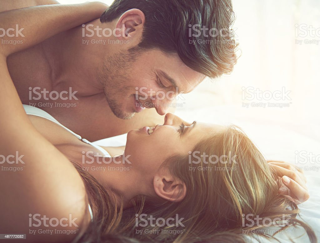 Eye contact…a heightened form of intimacy stock photo