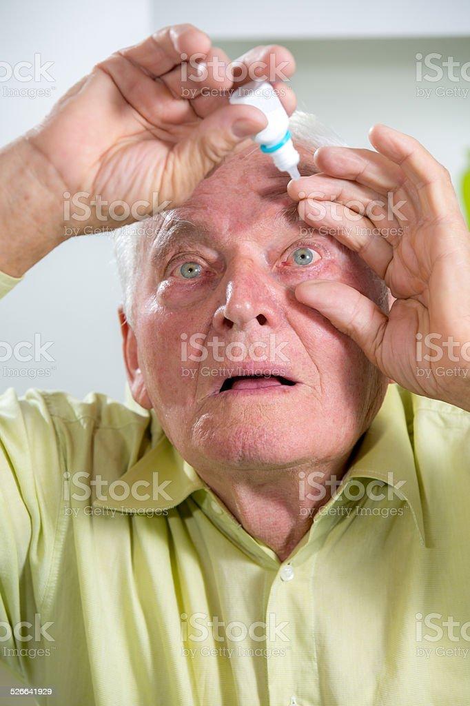 Eye drops stock photo