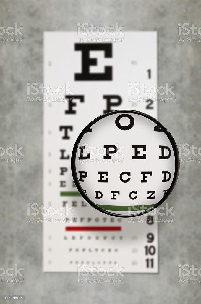 Eye Exam Chart royalty-free stock photo