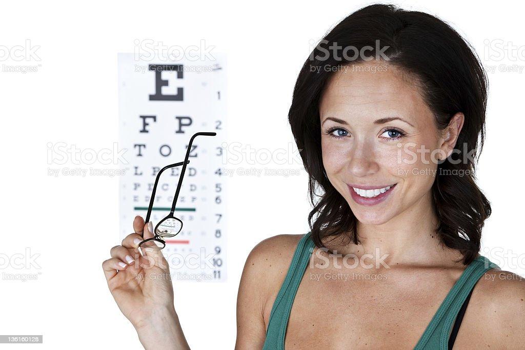 Eye exam concept royalty-free stock photo