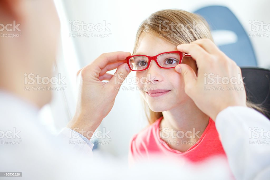Eye exam. stock photo