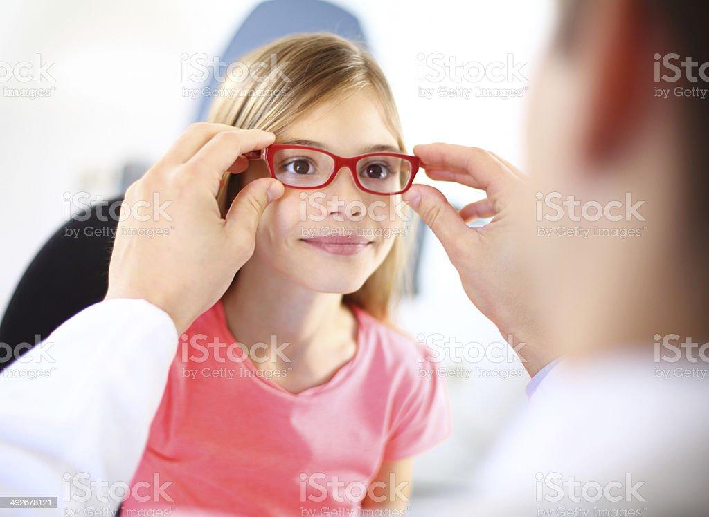 Eye exam. stock photo