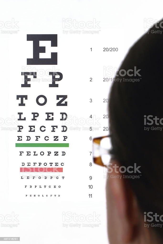 Eye Exam Routine stock photo