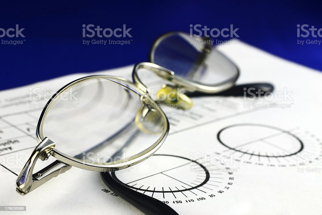 Eye examination stock photo