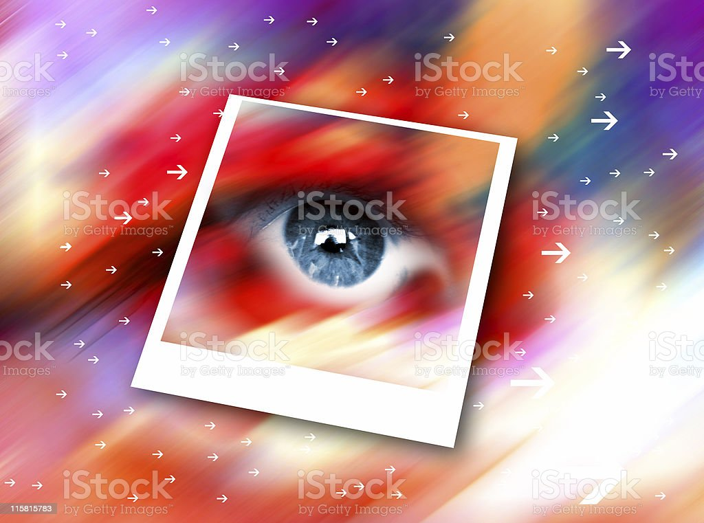 eye in the space royalty-free stock photo