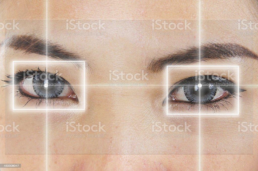 Eye Laser stock photo