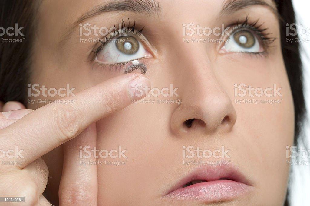 Eye lens royalty-free stock photo