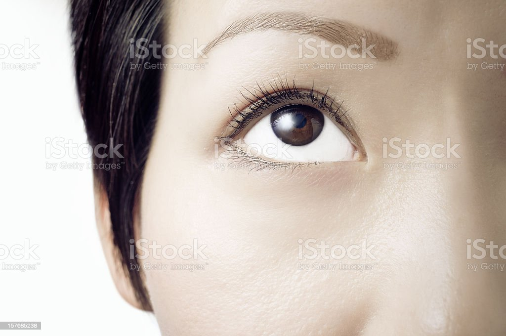Eye looking up royalty-free stock photo