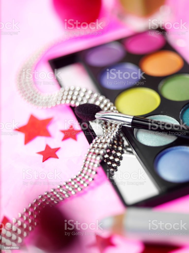 Eye Make Up and Jewellery royalty-free stock photo
