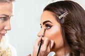 Eye make up on beautiful female model