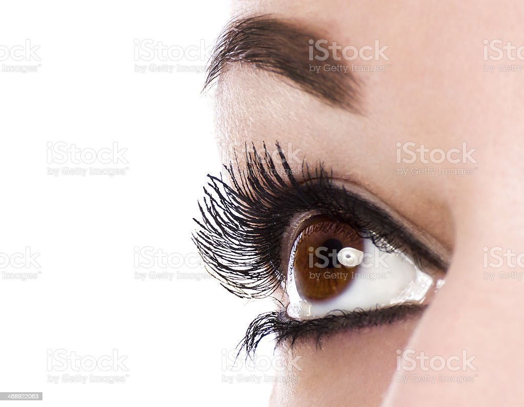 Eye make up stock photo