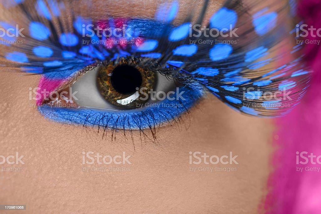 eye makeup macro stock photo
