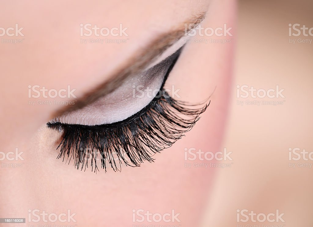 eye makeup macro royalty-free stock photo