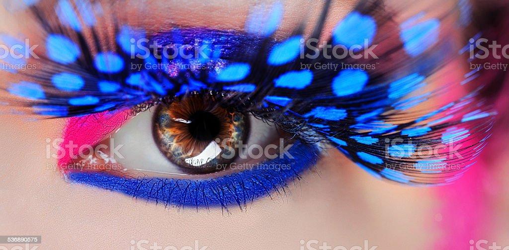 eye makeup, macro stock photo