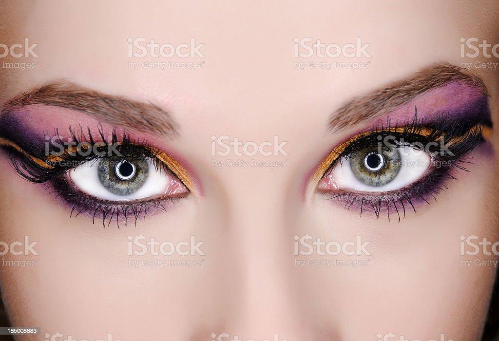 eye make-up royalty-free stock photo