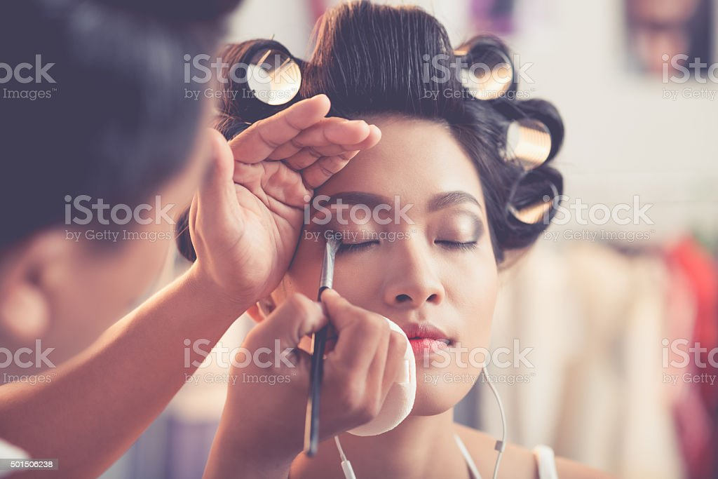 Eye make-up stock photo