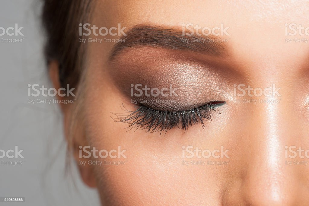 Eye makeup stock photo